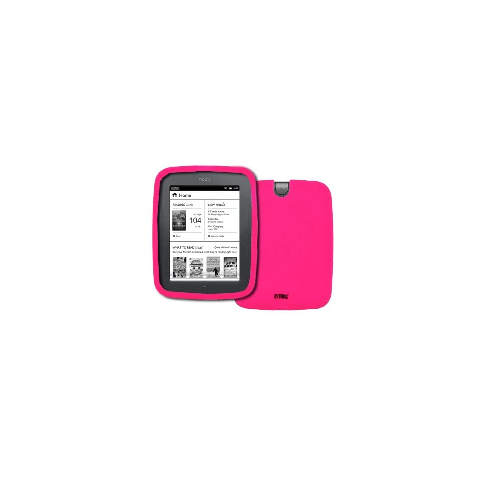 EMPIRE Barnes and Noble Nook Simple Touch Hot Pink Silicone Skin Case Cover [EMPIRE Packaging]