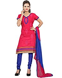 Yehii Women's Cotton Pink Paisley dress material Unstitched Salwar Kameez Dupatta for women party wear low price Below Sale Offer