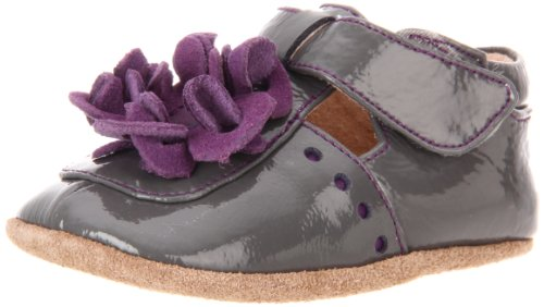 Livie & Luca Baby Blossom T-Strap (Infant/Toddler),Grey Patent,0-6 Months (2 M Us Infant) front-829306