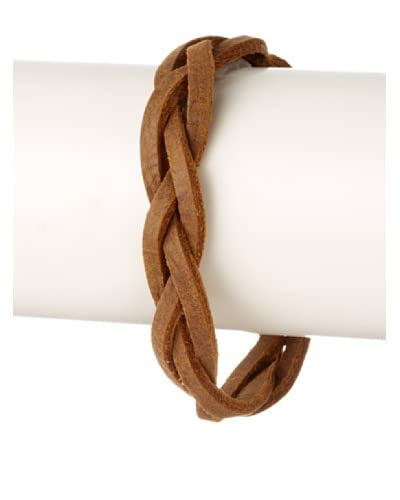 Griffin Chocolate Lincoln Leather Bracelet