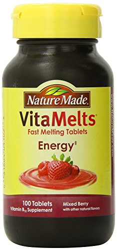 Nature Made Vitamelts Energy Tablets - Fast Melting - Vitamin B12 - Mixed Berry Flavor - 100 Count - Pack of 2 (Nature Made Vitamelts Energy compare prices)