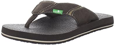 Buy Sanuk Mens Fault Line Thong Sandal by Sanuk
