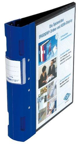 Wedo 05818003 - Archivador plástico con cierre ergonómico A4 4 anillas 55 mm color azul