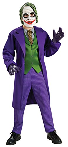 Boys Joker Deluxe Kids Child Fancy Dress Party Halloween Costume