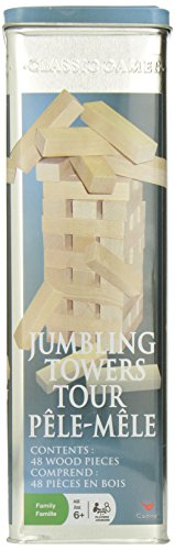 Tumbling Towers Wood Block Game in Collector's Tin - 1