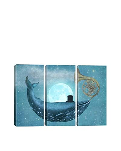 Terry Fan Cloud Maker Gallery Wrapped Triptych Canvas Print