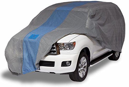 Duck Covers A1SUV210 Defender SUV Cover for SUVs/Pickup Trucks with Shell or Bed Cap up to 17' 5