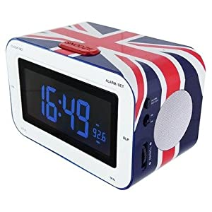 radio reveil drapeau anglais deco londres. Black Bedroom Furniture Sets. Home Design Ideas