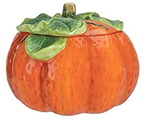 Home Gourmet Pumpkin Ceramic Cookie Jar Food Canister