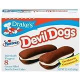 Drake's by Hostess 8 ct Devil Dogs Creme Filled Devil's Cakes 12.8 oz