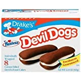 Drakes by Hostess 8 ct Devil Dogs Creme Filled Devils Cakes 12.8 oz