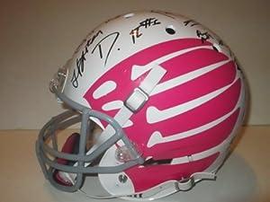 2013 University of Oregon Ducks Team Autographed Signed Custom Duck Wings Schutt Pink... by Southwestconnection-Memorabilia