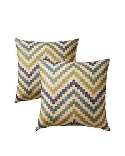 Colorfly by Belle Masion Set of 2 Izzy Pillows, Jewel