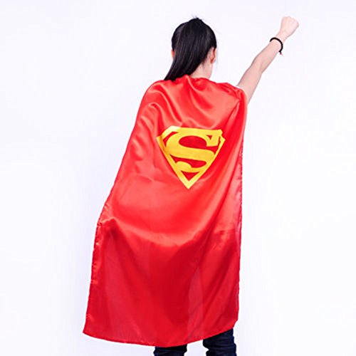 Starkma Adult Superman Superhero Stain Cape Costume Red 02