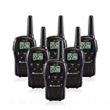 6-Pack Midland LXT500VP3 Two Way Radio, Rechargeable Batteries and Chargers (Tamaño: 6 Pack)