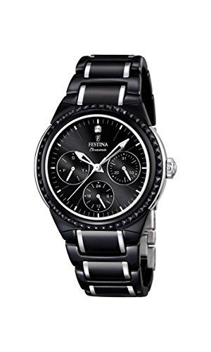 Festina F16699/4 - Reloj de pulsera mujer, cerámica, color negro