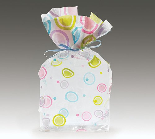 Mod Dots Pastel Large Cellophane Cello Bags Party Favor
