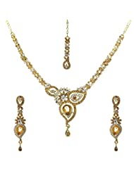 Krishnas White Color Necklace Sets For Women-KT060