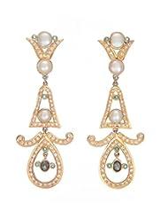 Amethyst By Rahul Popli White Silver Stud Earrings - B00OYSBWSS