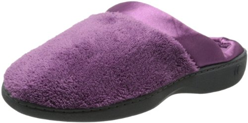 Isotoner Women's Microterry PillowStep Satin Cuff Clog