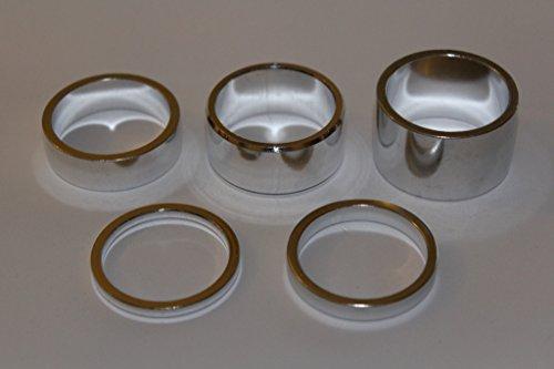 A-Head Vorbau Aluminium Spacer Set 1 1/8 Zoll 3 5 10 15 20 mm Headset silber