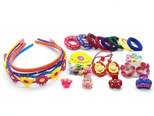 KIDSTAB 22 Pcs Hair Accessories Fashion clips Hair band Head band Clutches hair pin hair rubber gift for girl