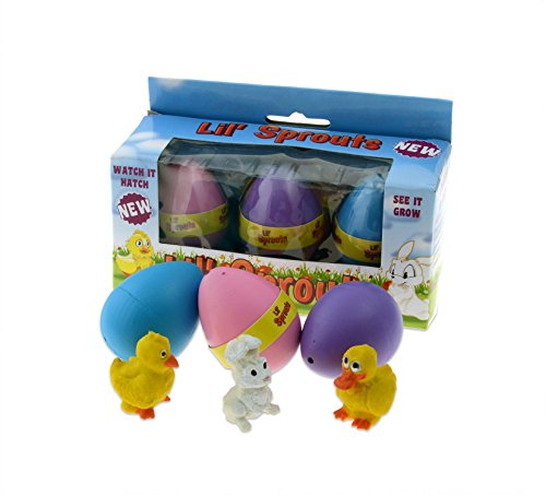 Lil' Sprouts Hatching Easter Eggs - (3 Pack) ~ Watch Them Grow Overnight