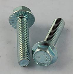 5/16-18 X 2 Hex Washer Head Serrated Flange Bolt Steel Zinc 100 Pack