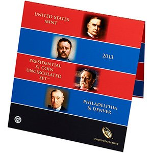 2013 Burnished Finish President Dollars Presidential Dollar 8-Coin Uncirculated Set In Ogp In Stock