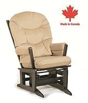 Big Sale Dutailier Round Back Cushion Modern Glider, Beige Microfiber