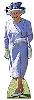 Queen Elizabeth Lilac Dress Lifesize Standup Cardboard Cutouts 70 x 23in