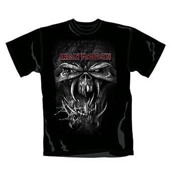 Iron Maiden Men Final Frontier Eddie Vintage Short Sleeve T-Shirt, Black, Small