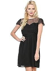 Besiva Cup Sleeve Black Dress