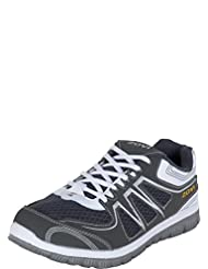 Zovi Grey And White Sports Shoes With White Lace (S147SHM03A03)