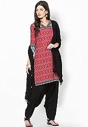 Soundarya Ethnicwear Cotton Patiala Dress Material for Women (PAT1)