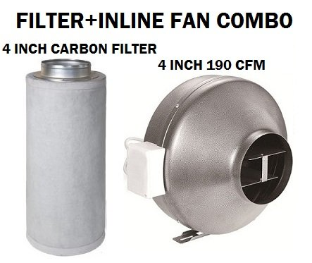 Carbon filter fan combo
