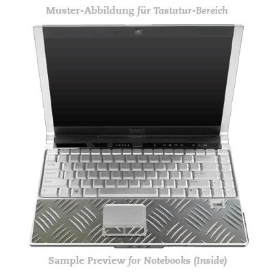 Design Skins für HP EliteBook 2530p Tastatur (Inlay) - Riffelblech Design Folie
