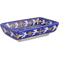Shiv Kripa Blue Pottery Ceramic Decorative Plate (6 Cm X 8 Cm X 12 Cm, BP49)
