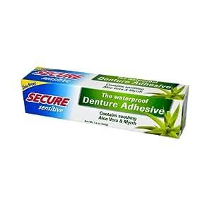 Secure Denture Adhesive >> Amazon.com: SECURE Denture Adhesive, Sensitive, 1.4 Ounce: Beauty
