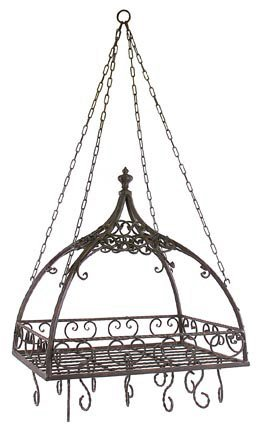 IMAX 7784 Domed Pot Rack with Hooks