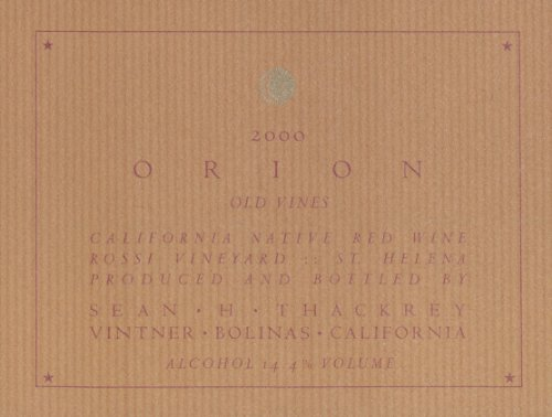 2000 Thackrey Orion Red 750 Ml