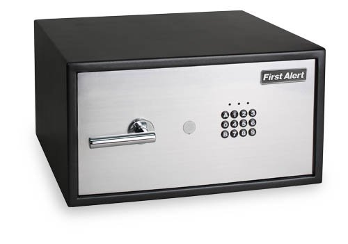 First Alert 2064F Digital Anti Theft Laptop Safe, 1.24 Cubic Feet, Gray/ Part 82