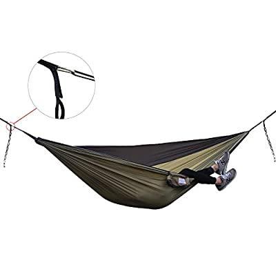 Ticket To The Moon Style Hammock Outdoor Camping Nylon Double Size Travel Hammock with Carabiner