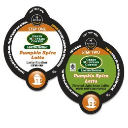 Green Mountain Pumpkin Spice Latte Vue Pack - 40 Coffees And 40 Frothers