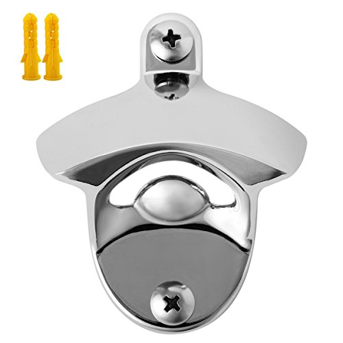 Hems Wall Mount Bottle Opener with Strong Color Matching Screws and all Hardware (Stainless Steel) (Speed Cola Soda compare prices)