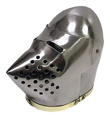 Whetstone Cutlery Mini Pig Face Bascinet Display Helmet with Stand