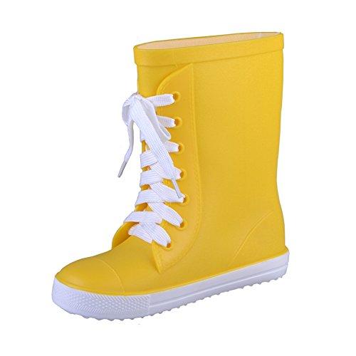 VICVIK Fashion Yellow Rain Boot (Toddler/Little Kid/Big Kid/Boy/Girl)(26) (Rain Boots Cheap compare prices)