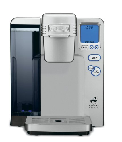 Cuisinart Single Serve Brewing System Powered by Keurig with 5 Cup Sizes Large 80 Oz Water ...