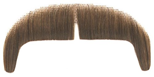 Loftus Real Human Hair Chinese 70's Man Moustache, Brown, One-Size