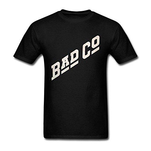 IIOPLO Men's Bad Company Album T-shirt Black XXL (Bad Company Band Tee compare prices)
